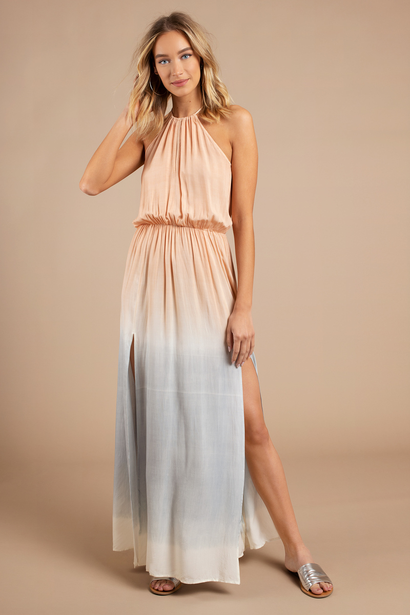 Angelica Blush Multi Maxi Dress