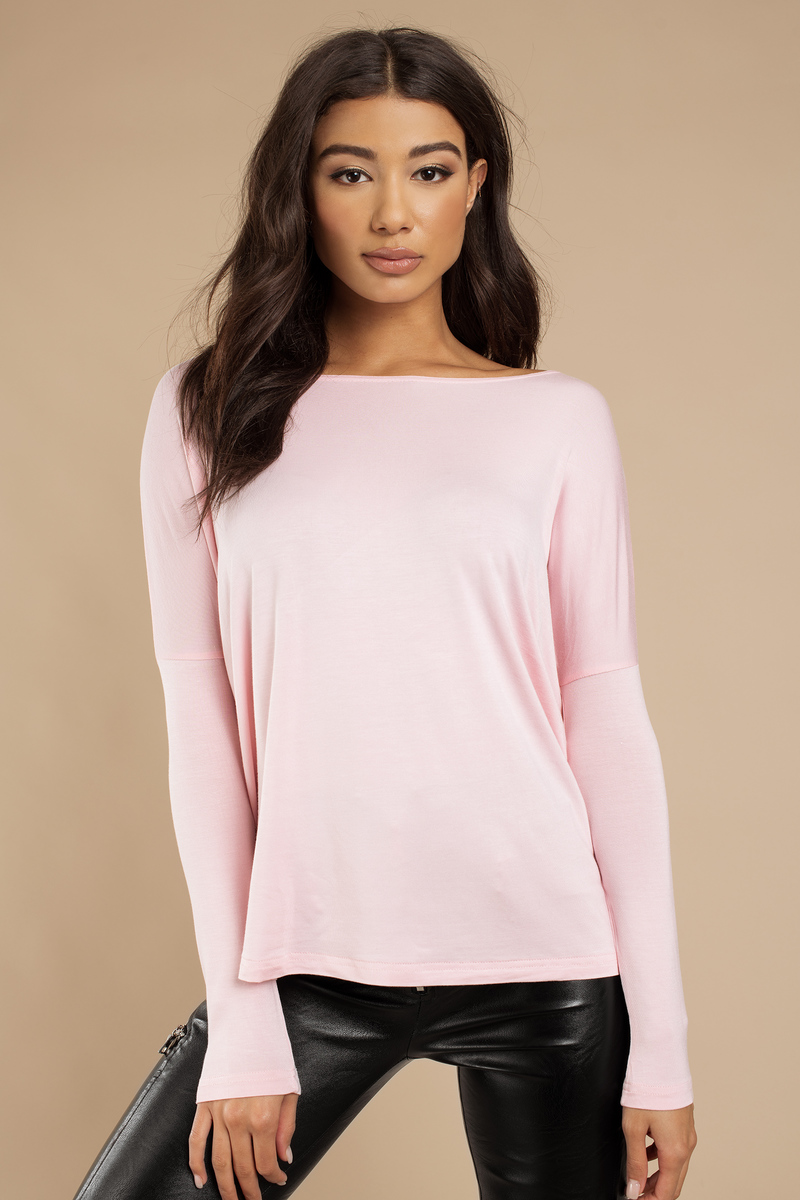 My Go To Mint Long Sleeve Boat Neck Top