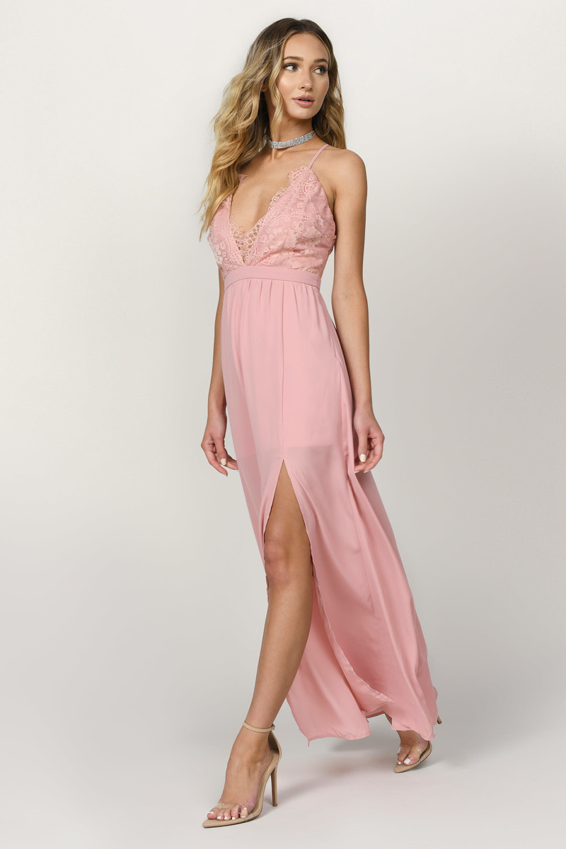 b0ff6ca0f68a5 Blush Pink Maxi Dress - Cami Maxi Dress - Blush Pink Homecoming ...