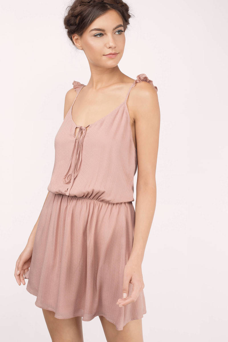 Ottis Blouson Blush  Blouson Skater Dress