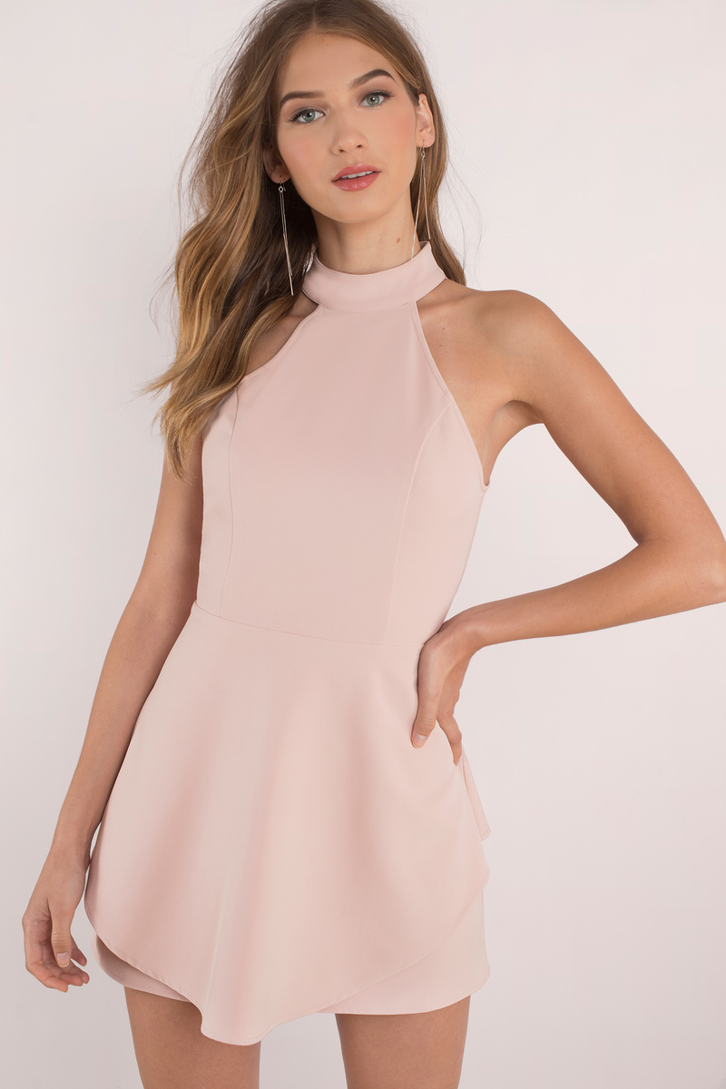 09c0124609 Blush Dress - Open Back Dress - Skater Dress -  36