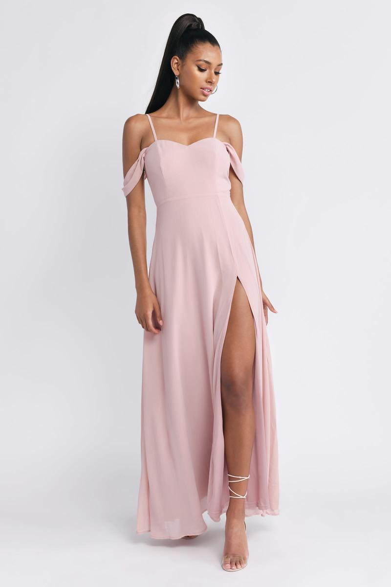 fd000d201ae Pink Maxi Dress - Homecoming Dress - Pink Empire Waist Maxi Dress ...
