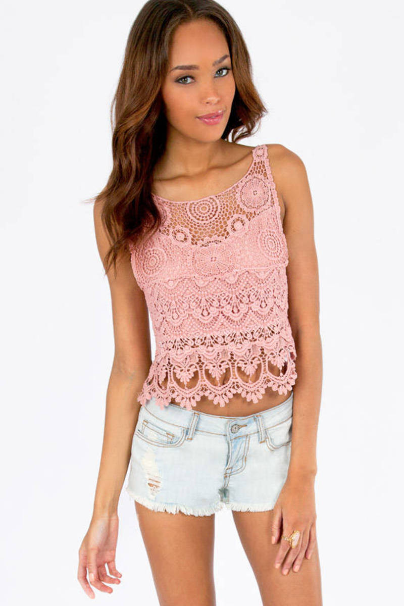 Shirley Back Tie Crop Top