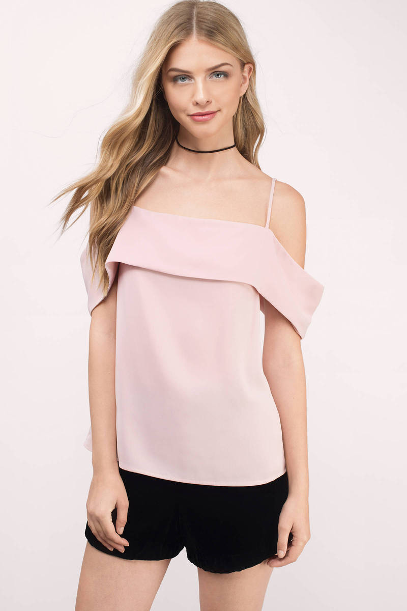 Stay With Me Blush Satin Blouse