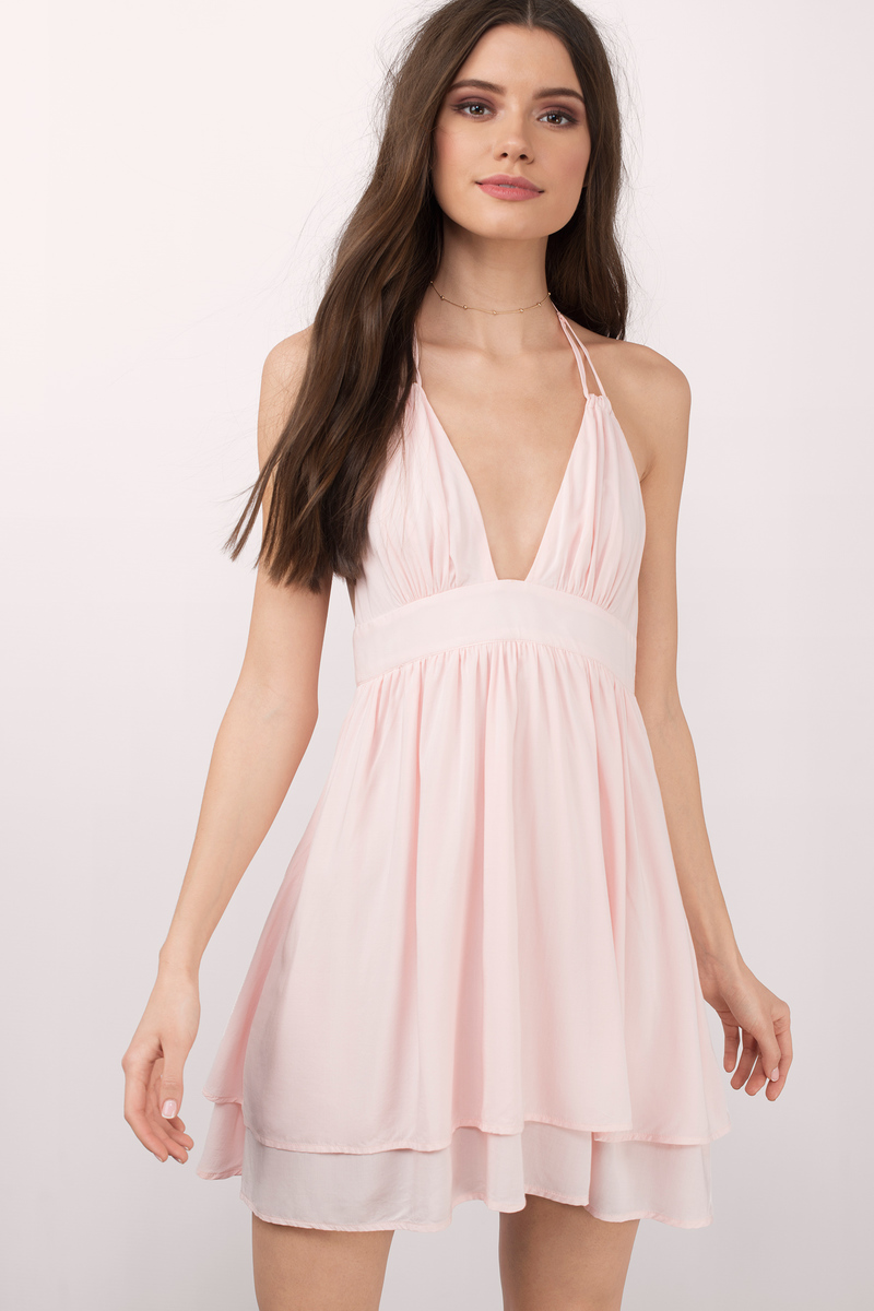 Sure Thing Blush Skater Dress