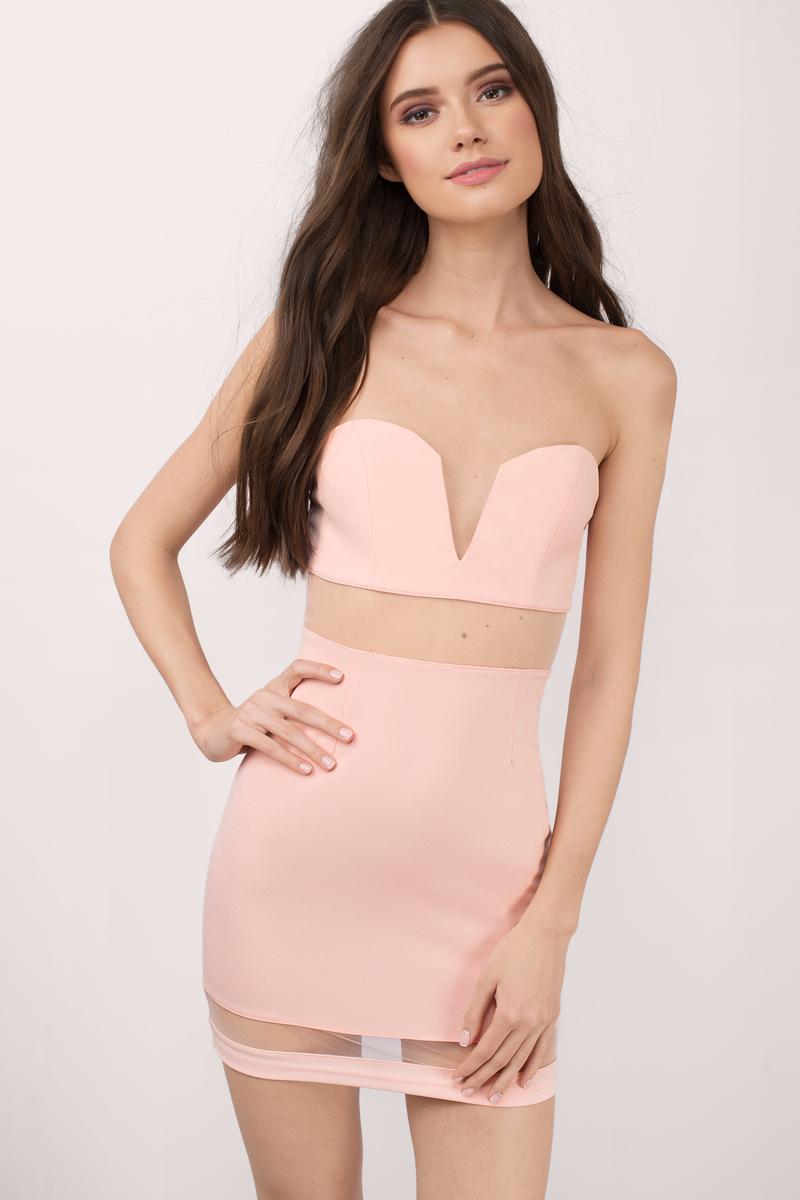 2d107a466387 Trendy Blush Bodycon Dress - Sweetheart Dress - Bodycon Dress -  8 ...