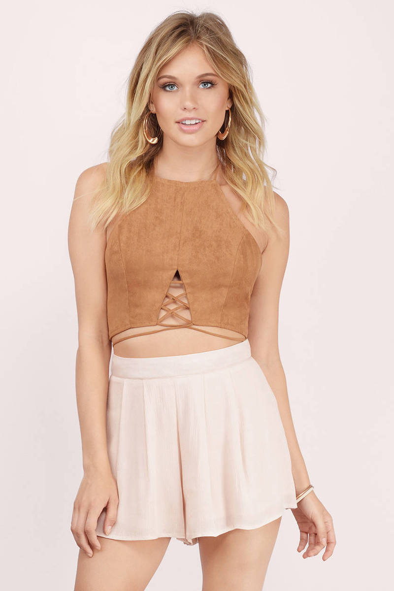 Take Me Away Taupe Gauze Shorts