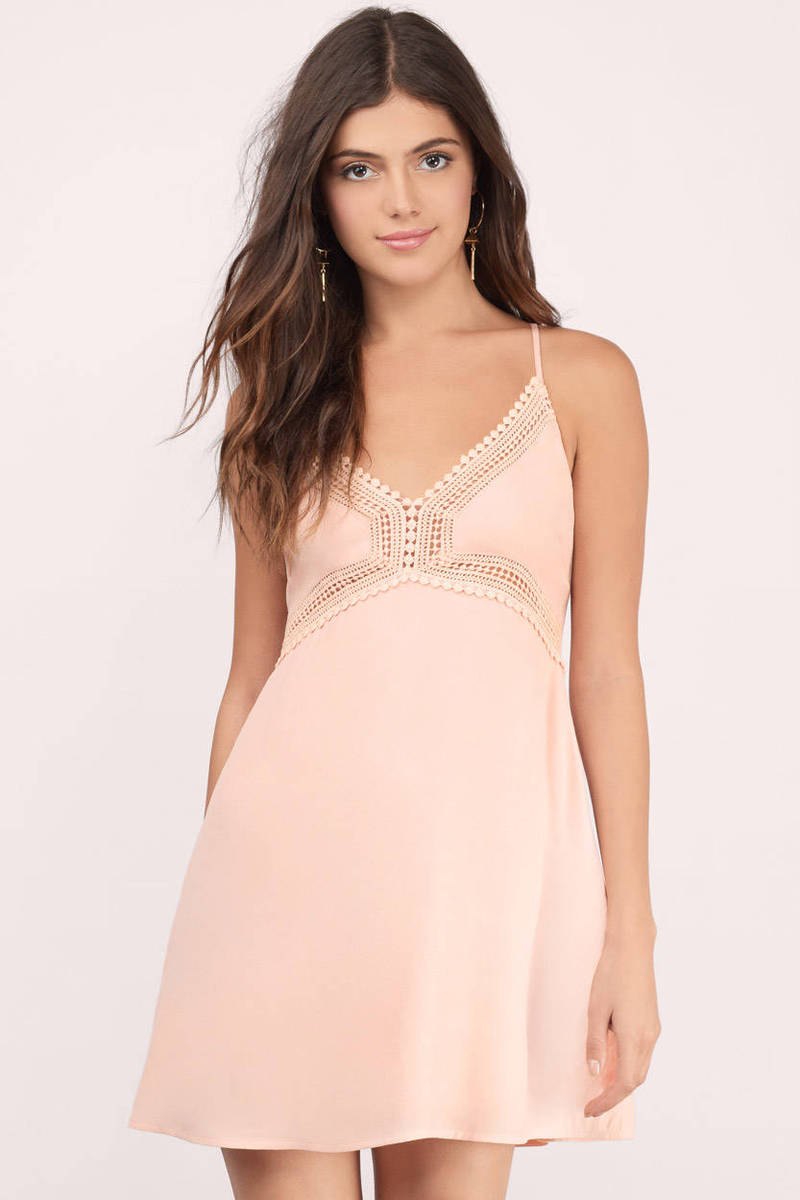 Take Your Time Blush Embroidered Dress