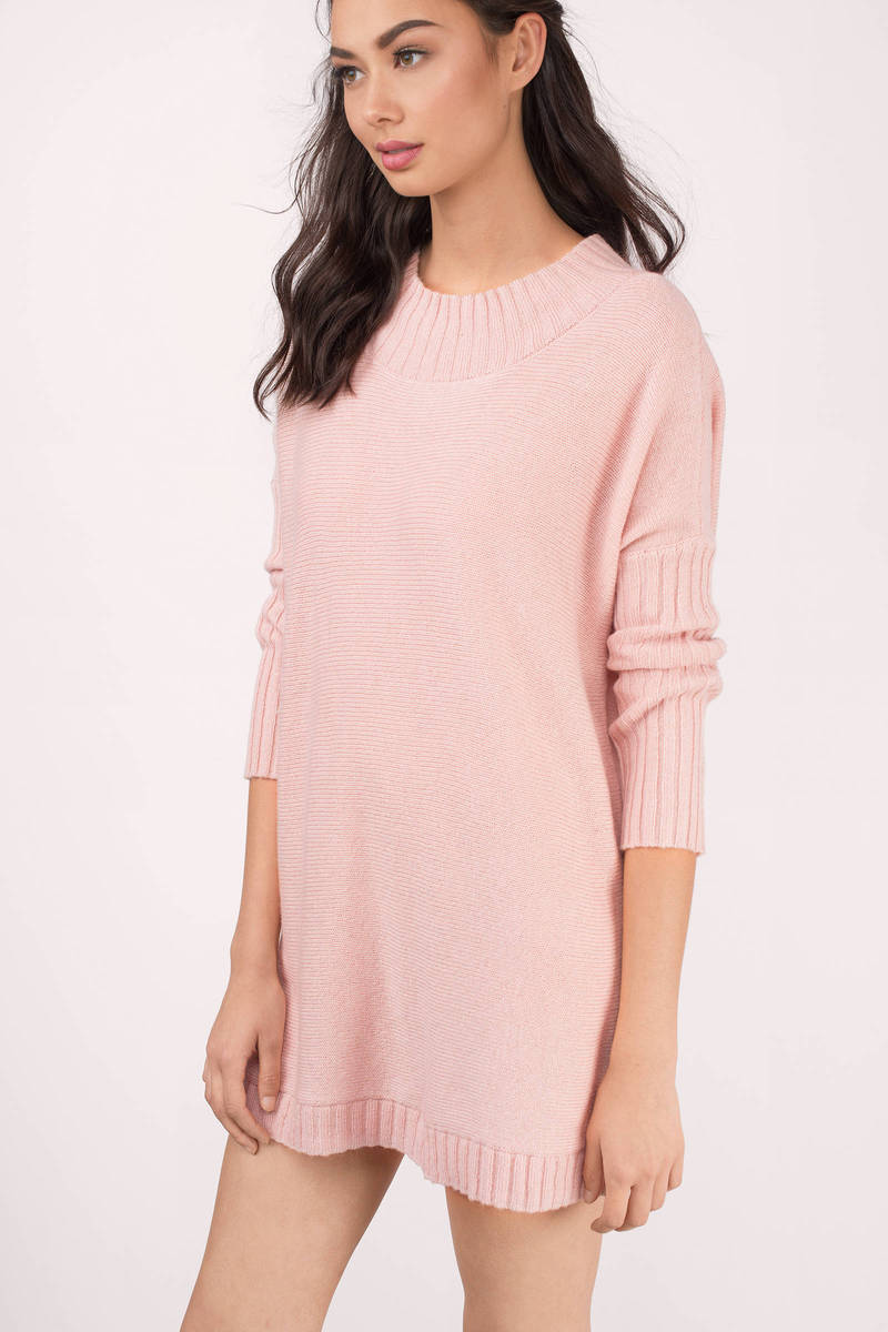 Blush Sweater - Pink Sweater - Tunic Sweater - A Line Sweater - $16.00