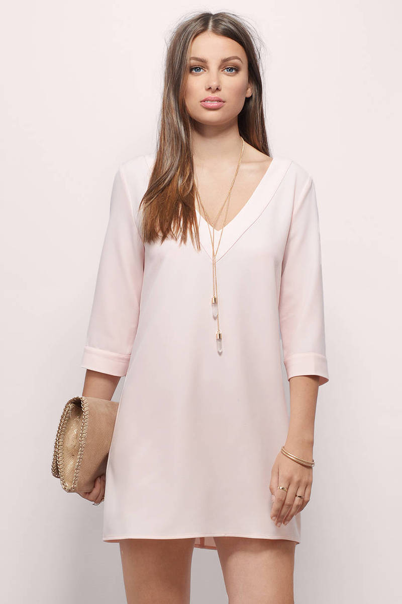 Talk Shop Blush Shift Dress