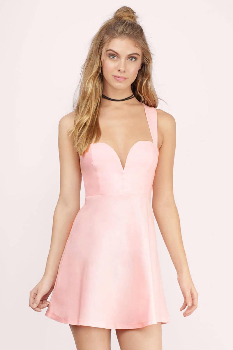 Taste Of Honey Skater Dress