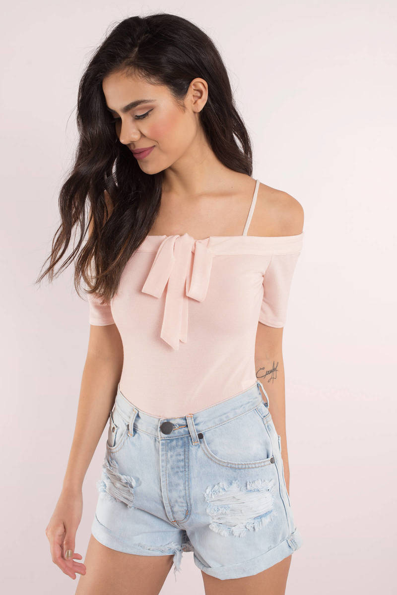 Tied Up Right Now Blush Bodysuit
