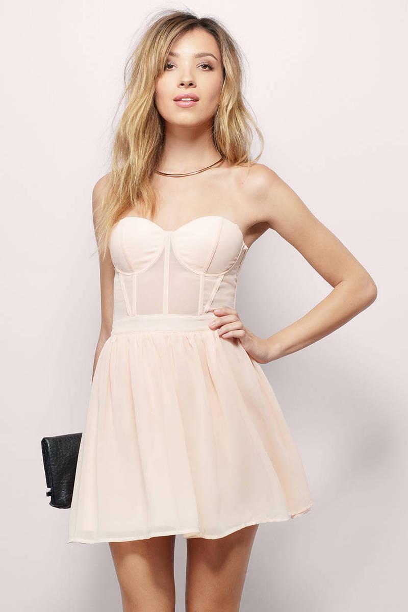 c8aa81b55d Blush Skater Dress - Blush Dress - Sweetheart Dress - Blush Skater ...
