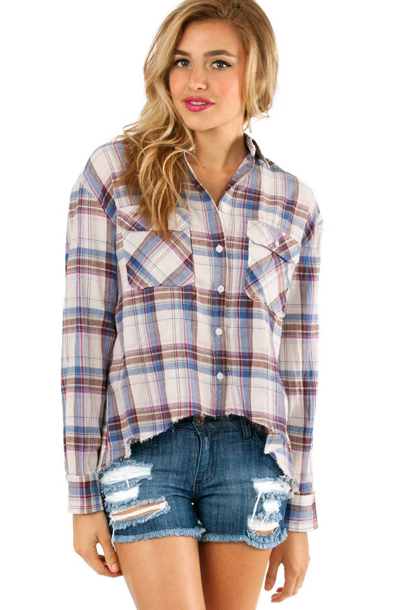 Plaid Pocket Button Up Shirt