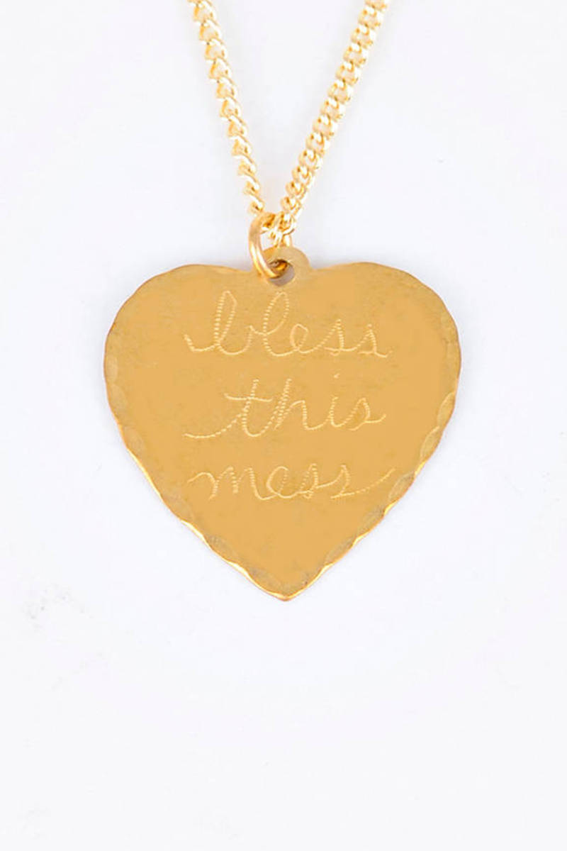 In God We Trust Sweet Nothings Necklace - Bless This Mess