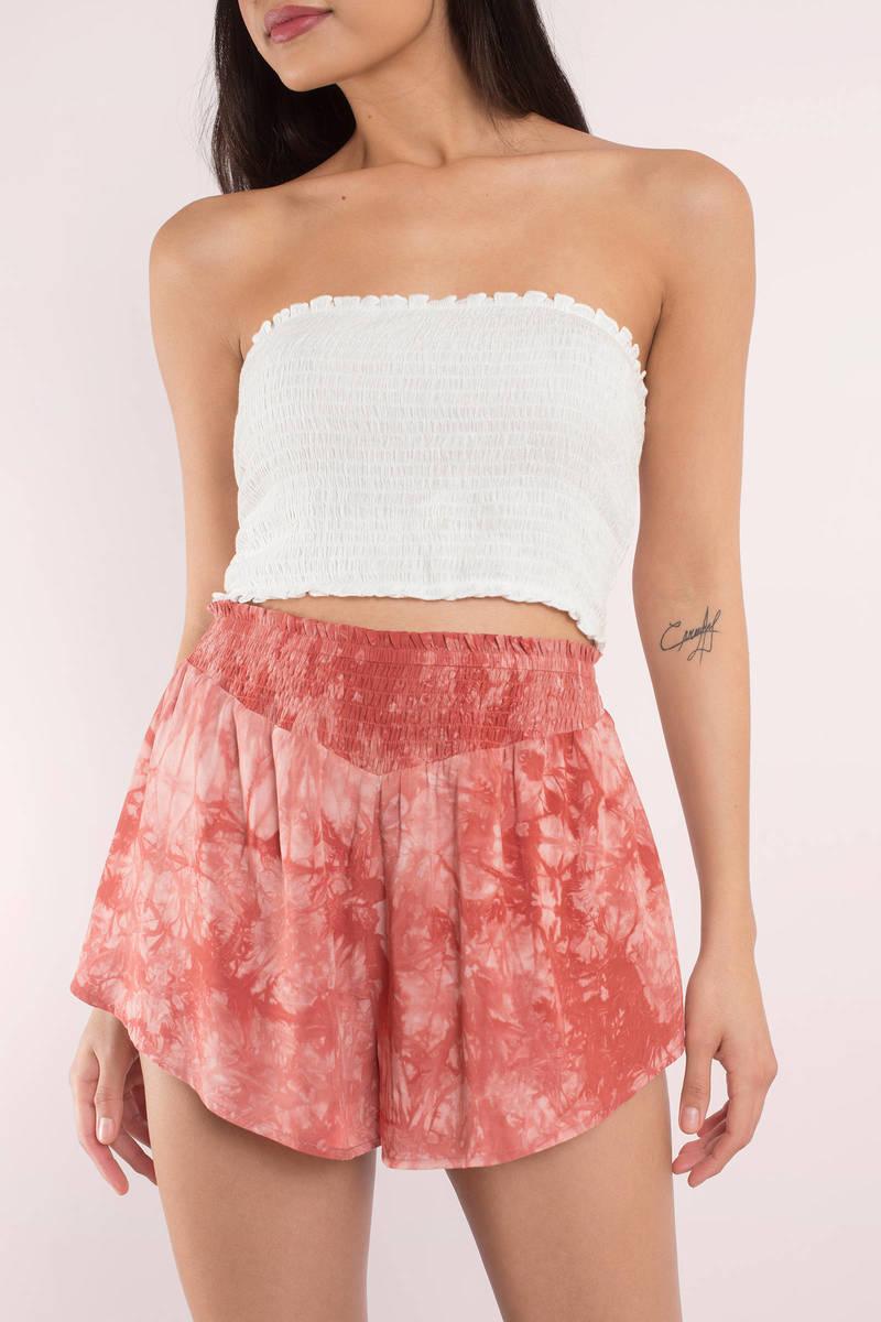 Harlow Mint Tie Dye Shorts