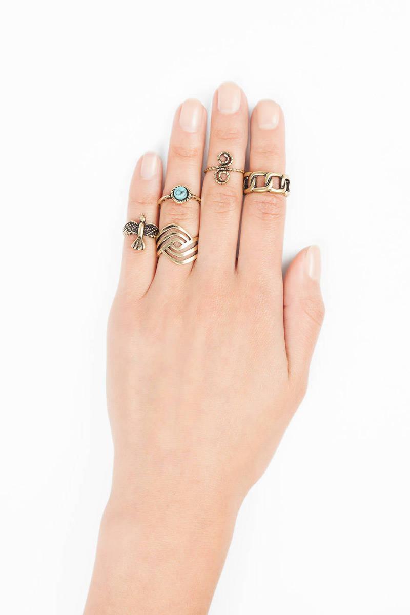 Free Bird Ring Set