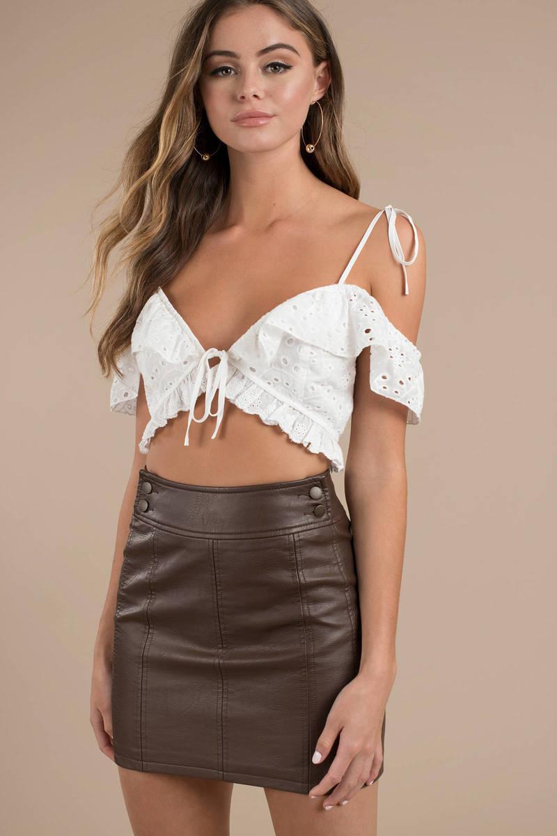 68d3b46ff Free People Retro Brown Bodycon Mini Skirt - $30 | Tobi US