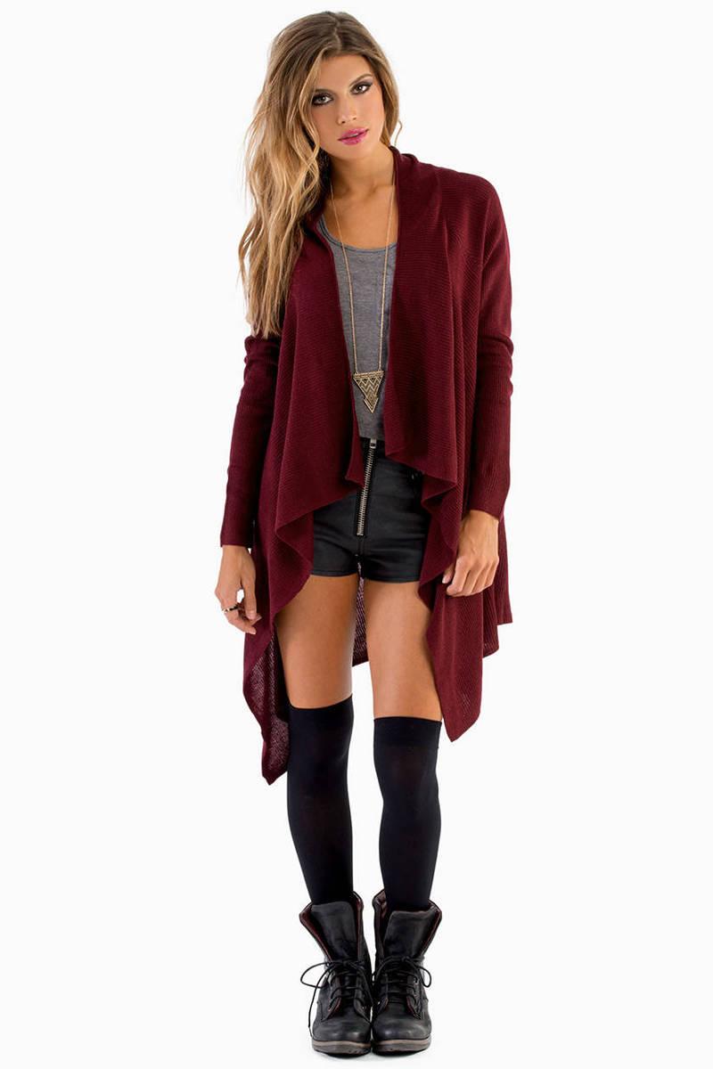 Bacardigan Burgundy Knitted Sweater
