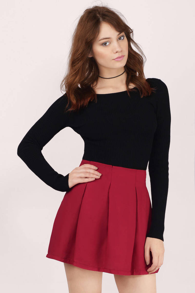 Casting Spells Neon Coral Solid Skater Skirt