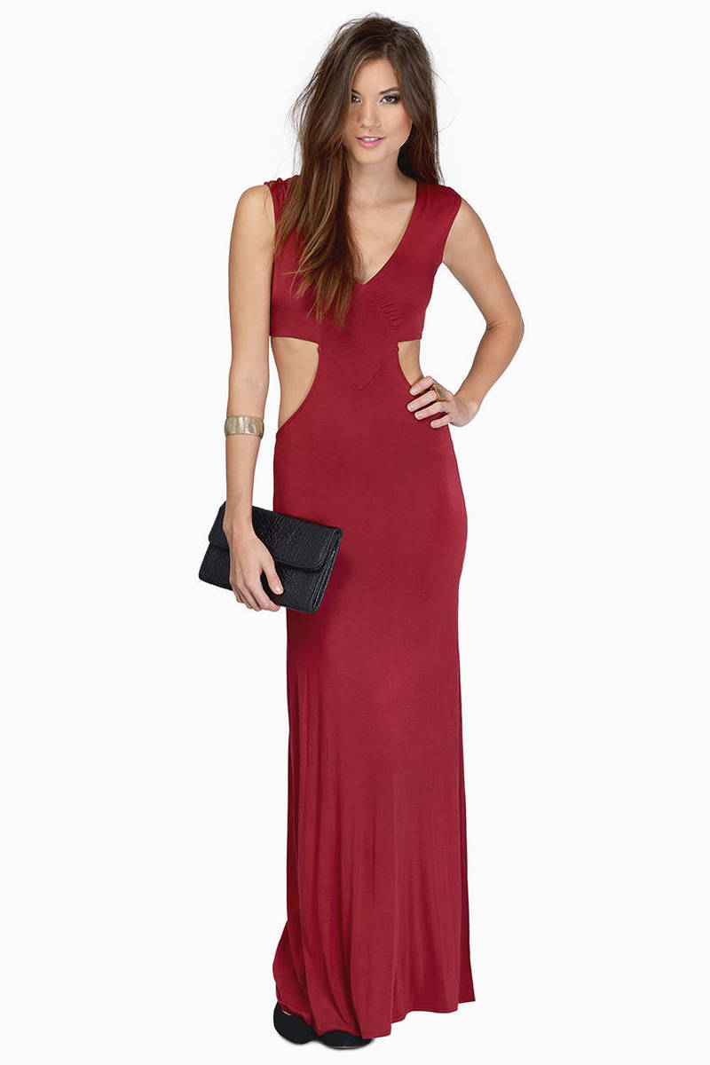 Justine Side Slit Maxi Dress