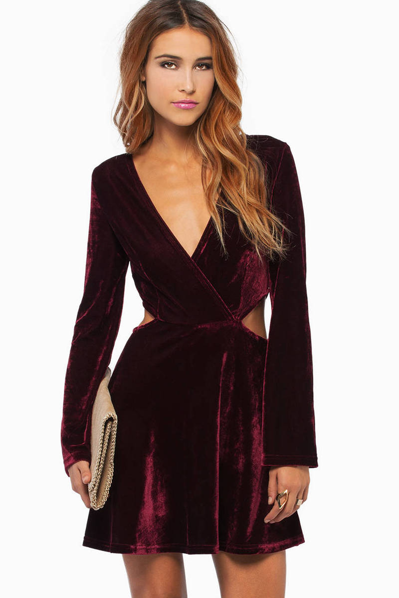 Lucky Chances Velour Dress