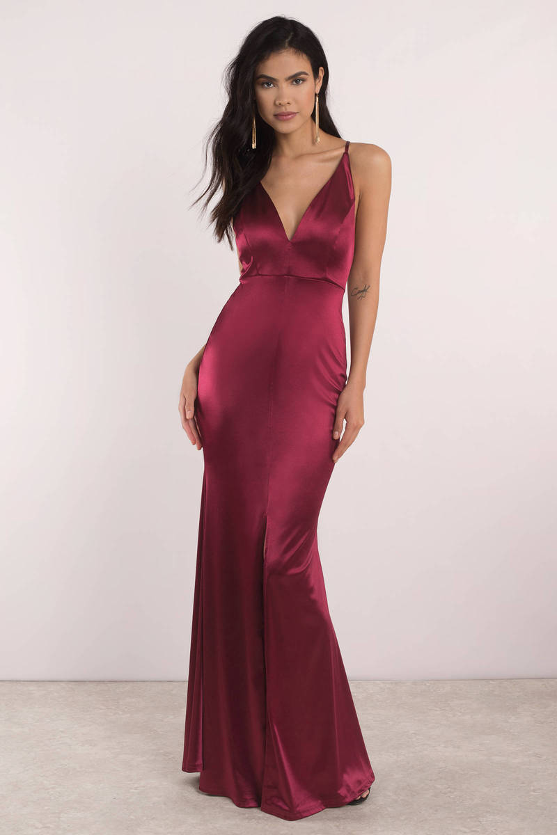 41808c66ebad Sexy Red Maxi Dress - Plunging Maxi Dress - Red Gown - Formal Dress ...