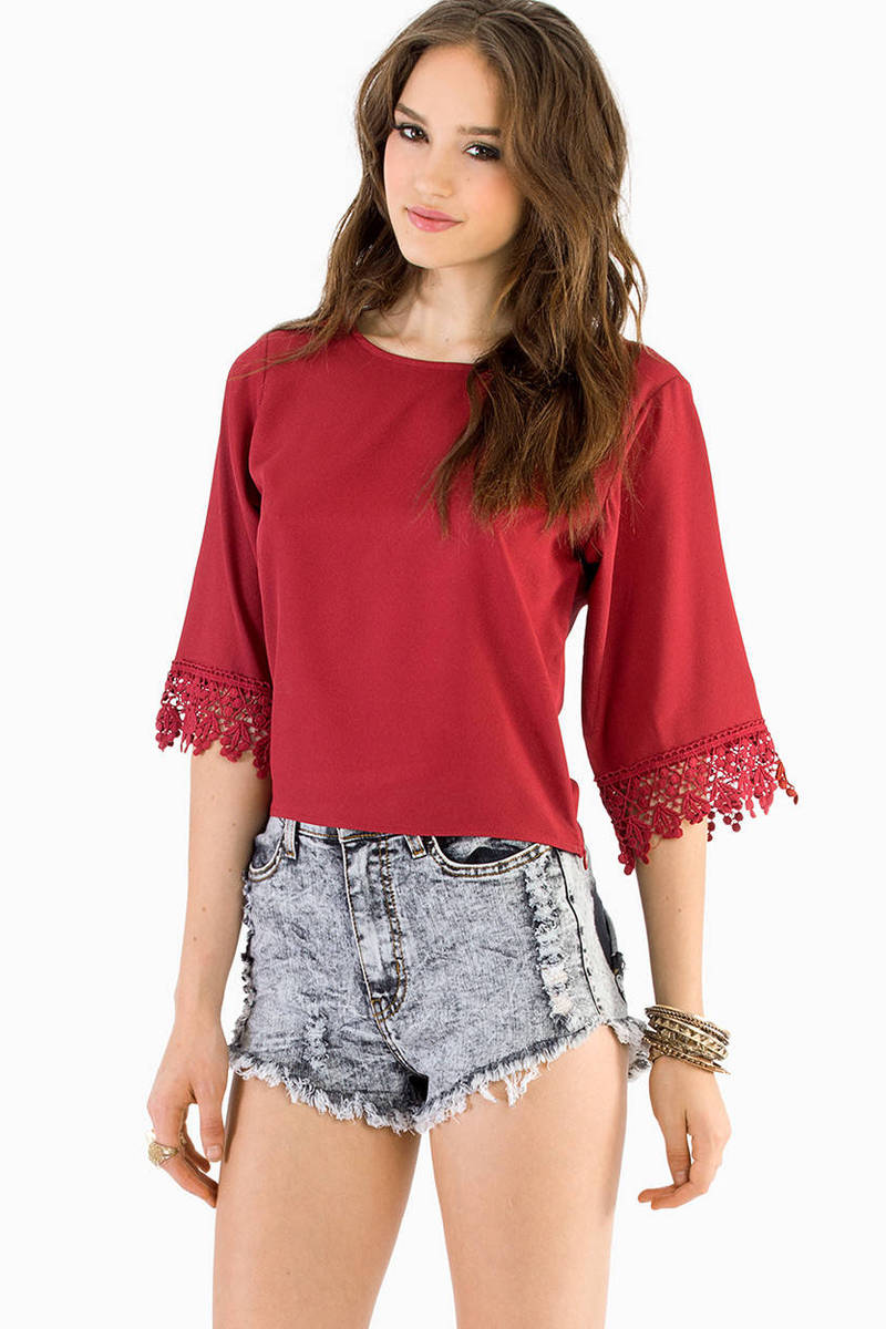 Sophie Crochet Trim Top