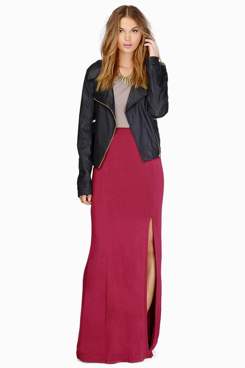 Split In Two Maxi Skirt