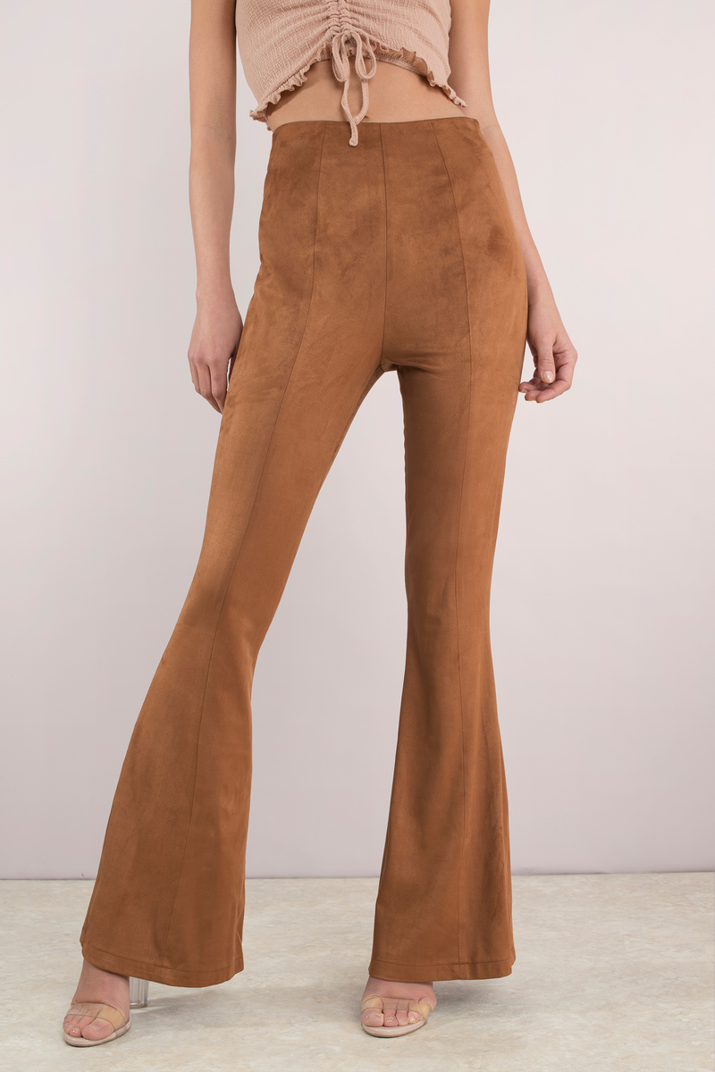 High Points Camel Faux Suede Pants