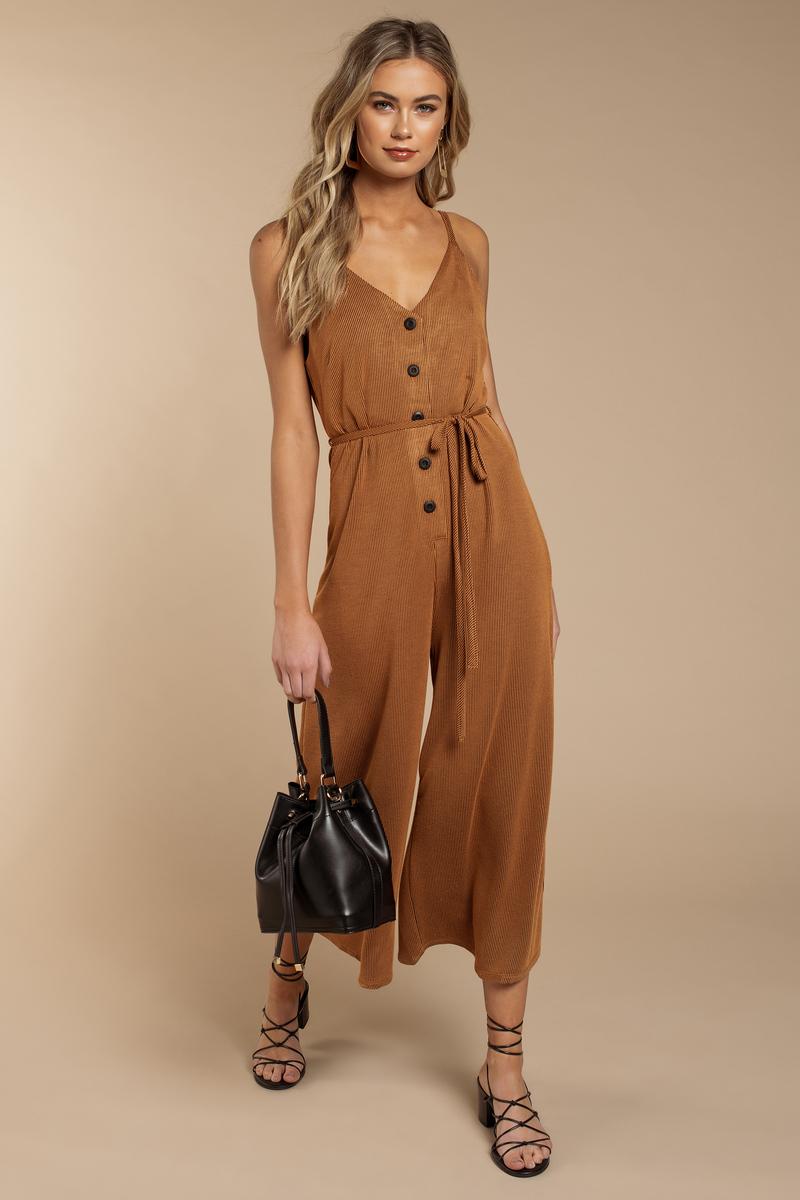 43639db0c1e1 Orange Boho Jumpsuit - Culotte Jumpsuit - Orange Striped Jumpsuit ...