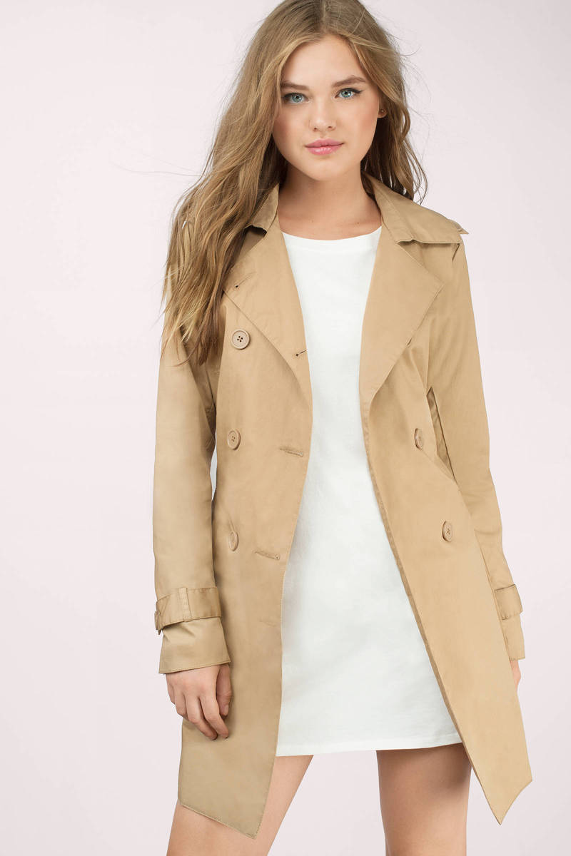 Camel Coat - Brown Coat - Trench Coat - $43.00