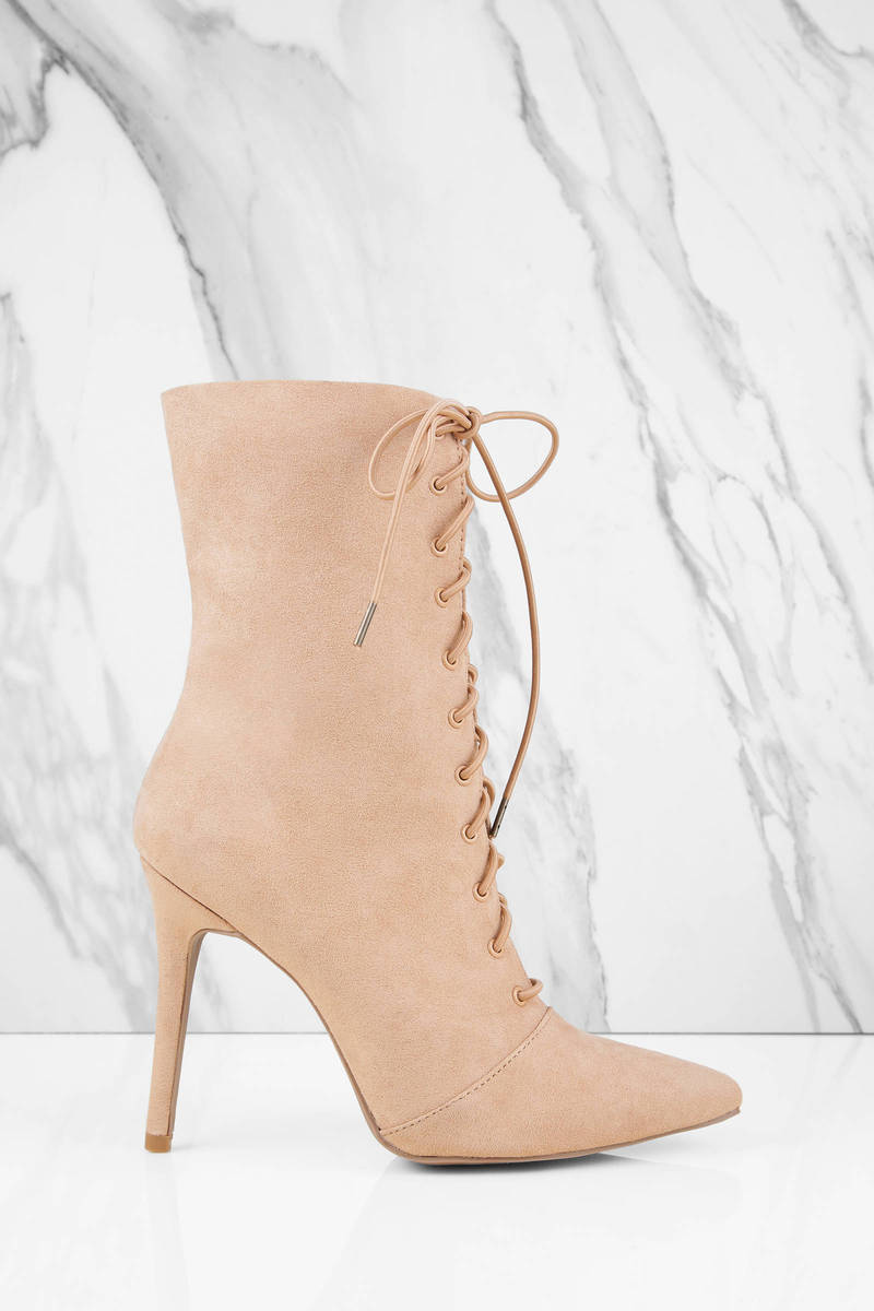 205b6be8fba Milia Lace Up Booties