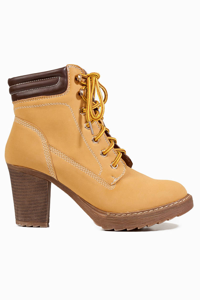 Worker Chic Lace Up Booties