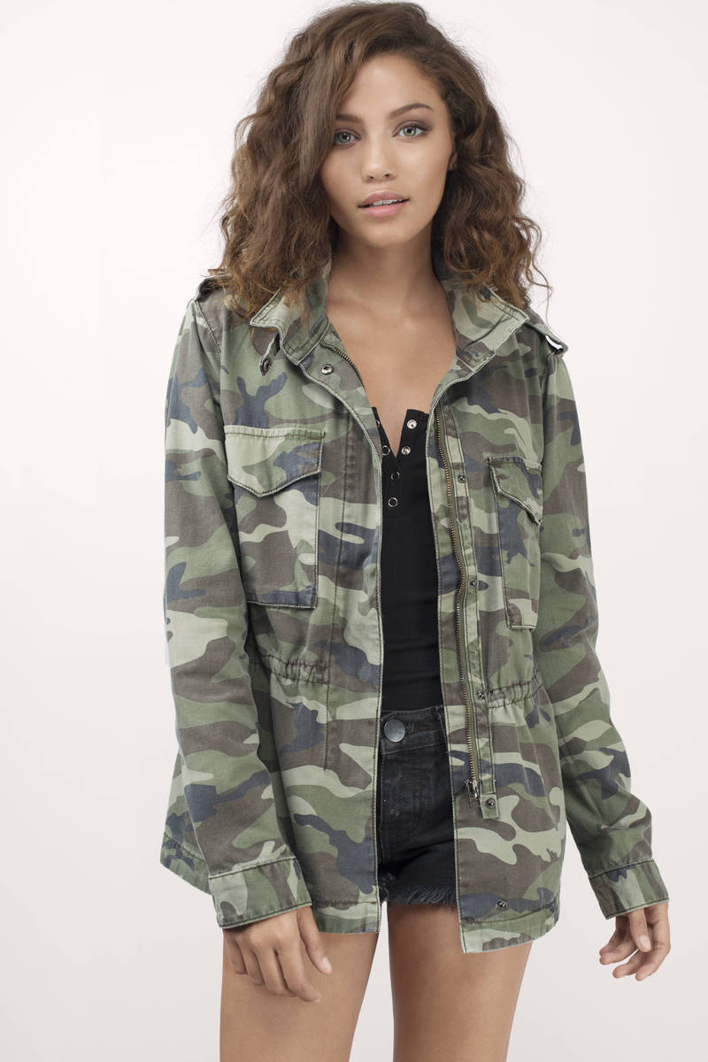 Thread & Supply Thread & Supply Brooklyn Camo Print Pocket Camo Print Anorak Jacket