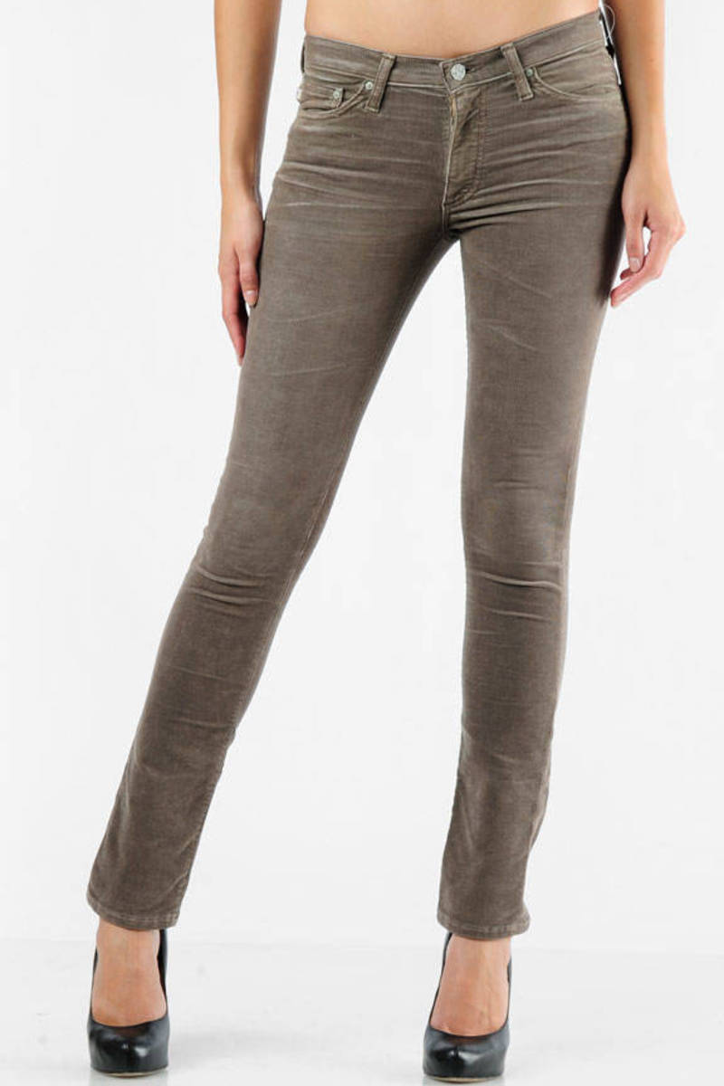 2fdd3cc6 Brown Ag Adriano Goldschmied Pants - Skinny Cords - Brown Corduroy ...