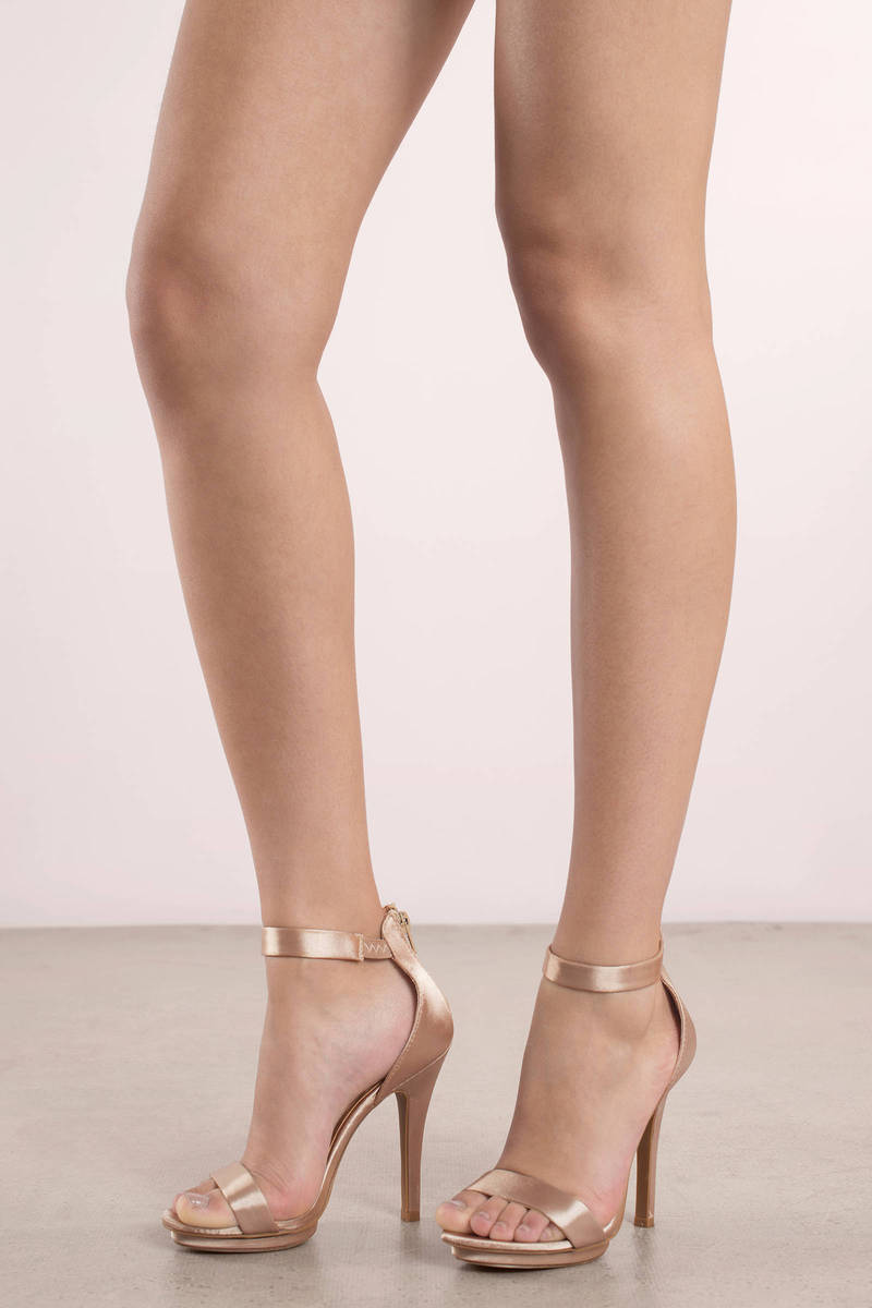 Champagne Color Heel Shoes