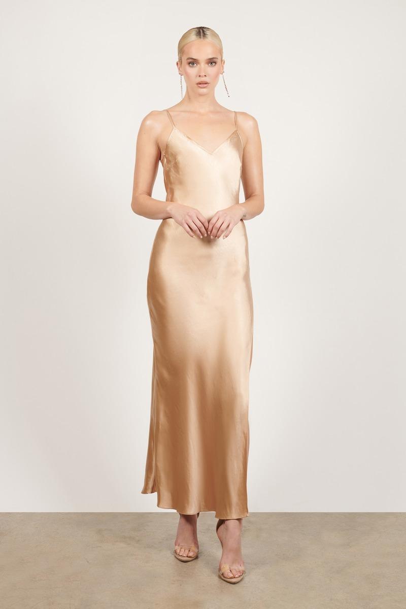 Angel Of Mine Satin Slip Maxi Dress