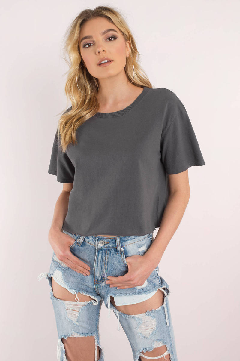 By The Rules Toast Cropped Tee