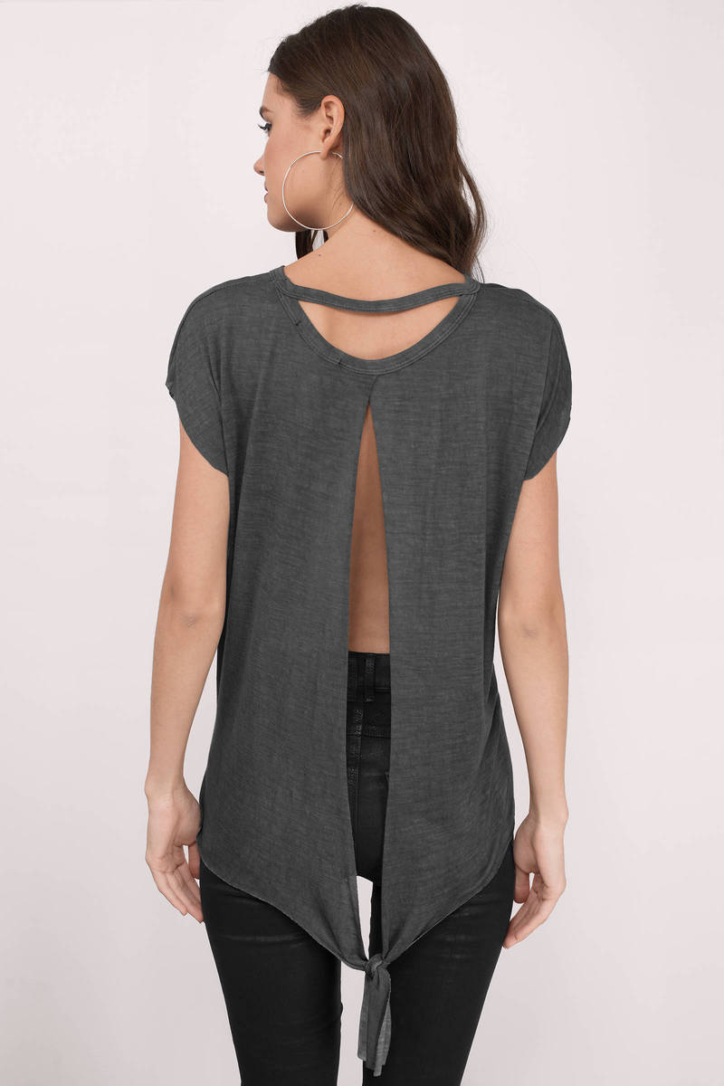Charley Charcoal Jersey Knitted Tee