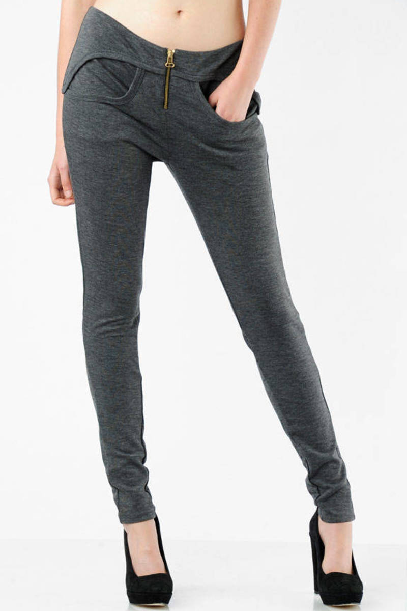 Buy Alexander Wang Grey Logo Zip Leggings Up To 61 Off Free Shipping