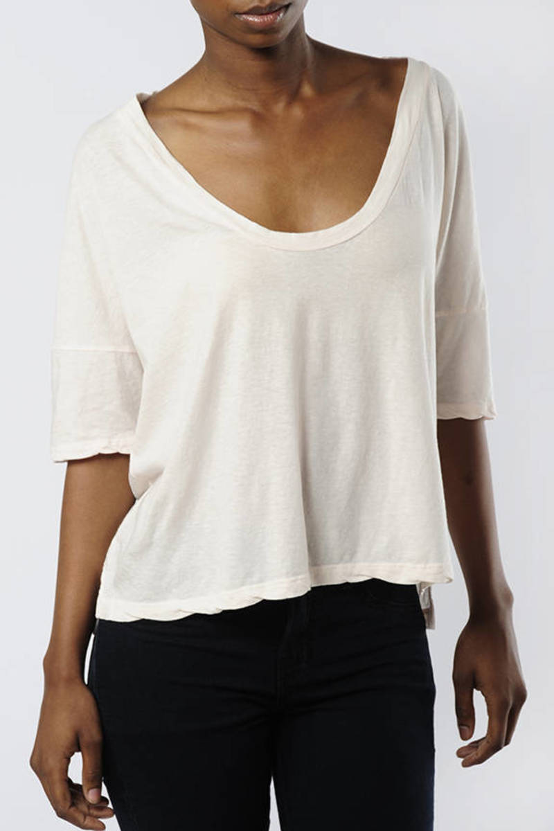984063e4ffe Ivory James Perse Tee - Boxy T Shirt - Ivory Scoop Neck Tee - $31 ...