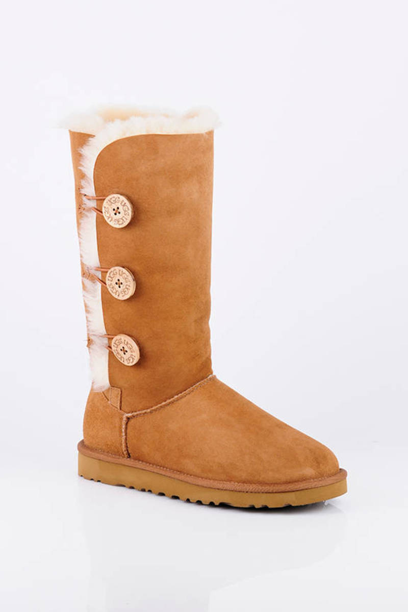 8e439fb1a89c Trendy Brown Ugg Boots - Warm Fuzzy Boots - Brown Button Up Boots ...