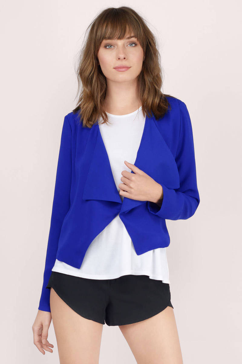 See My Point Cobalt Blazer