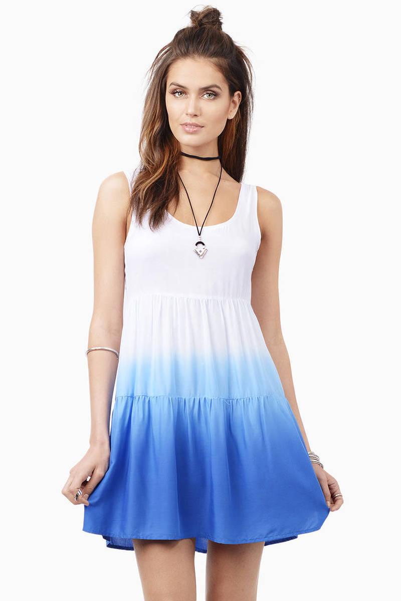 Slow Fade Cobalt Skater Dress