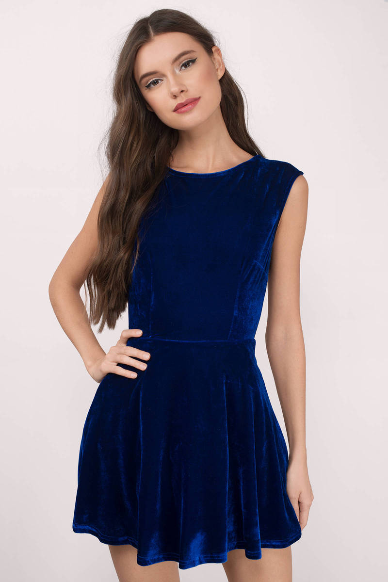 So Fancy Cobalt Dress