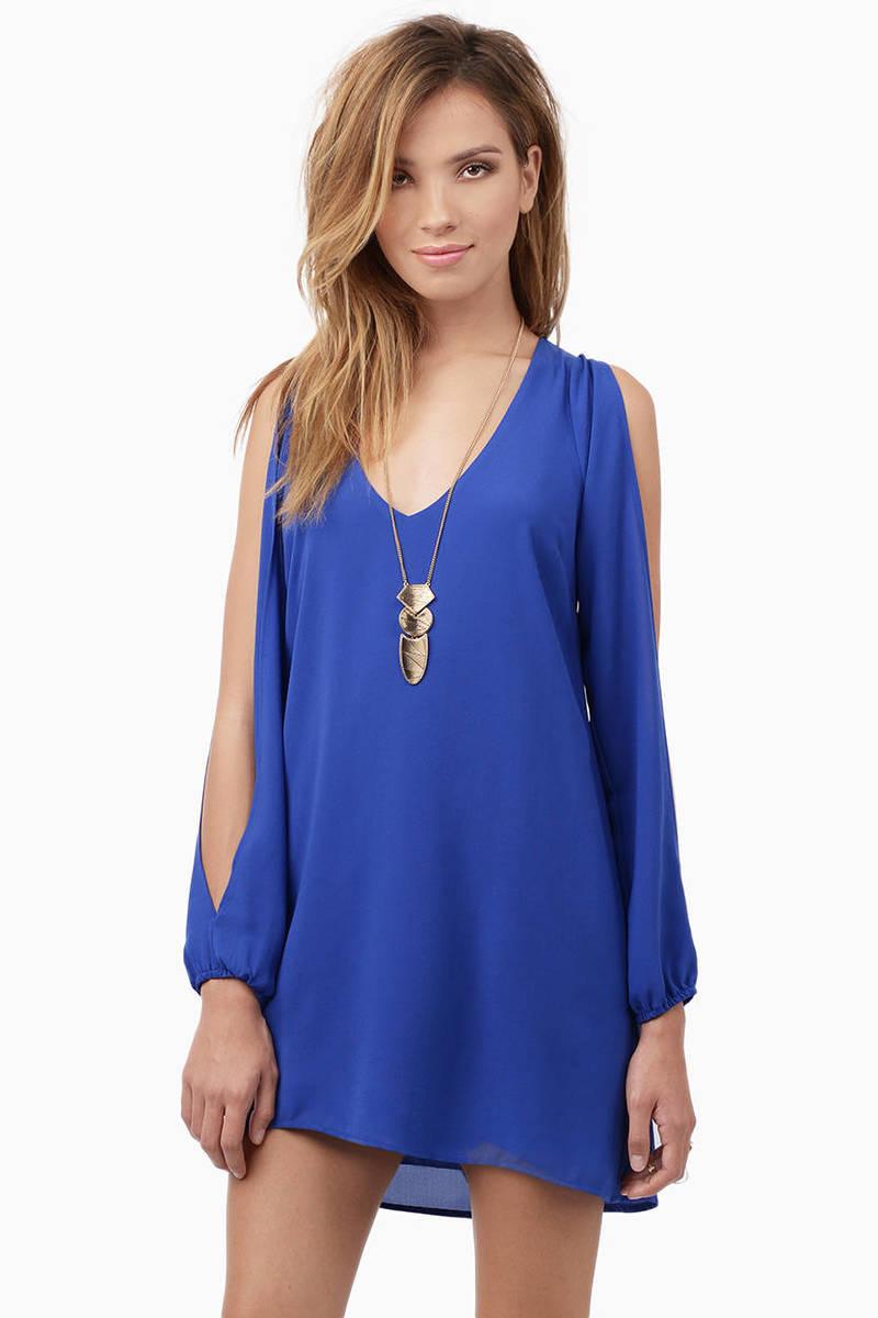 Summer Breeze Cobalt Shift Dress