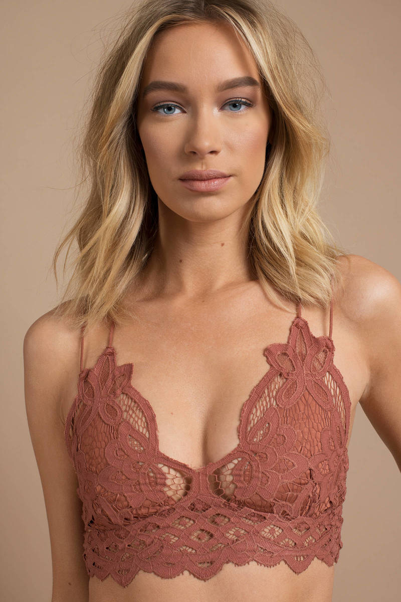 252b6be97a38e Free People Adella Copper Lace Bralette -  38