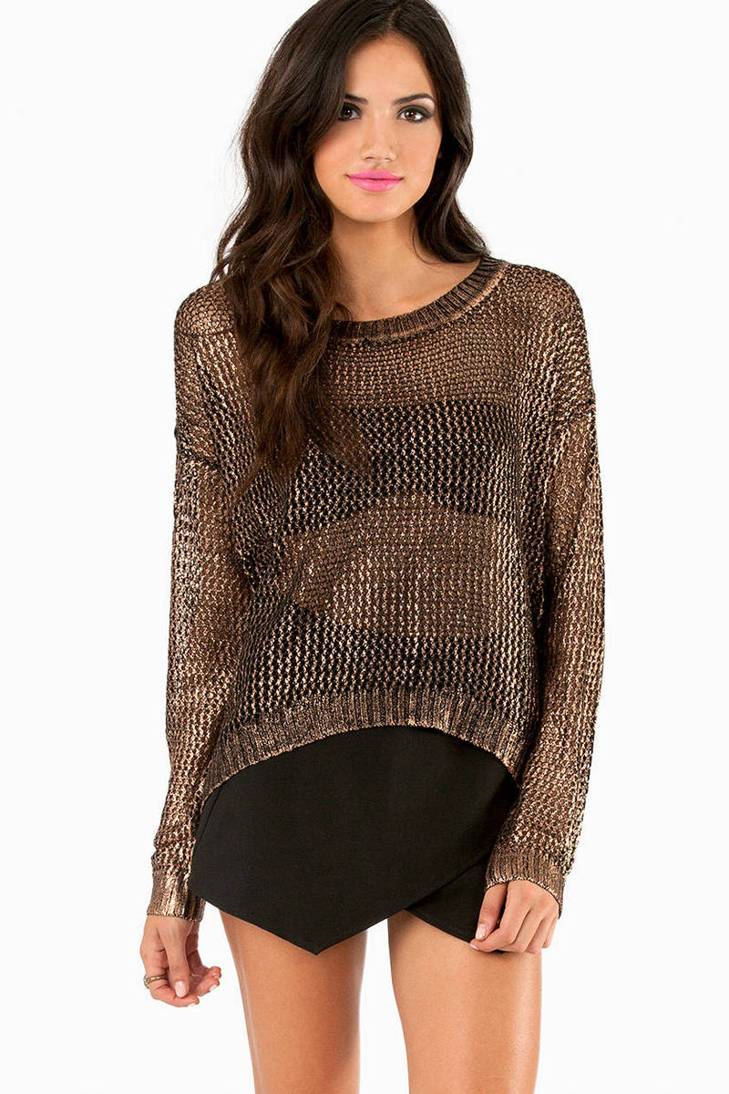 Show Me Metallic Sweater