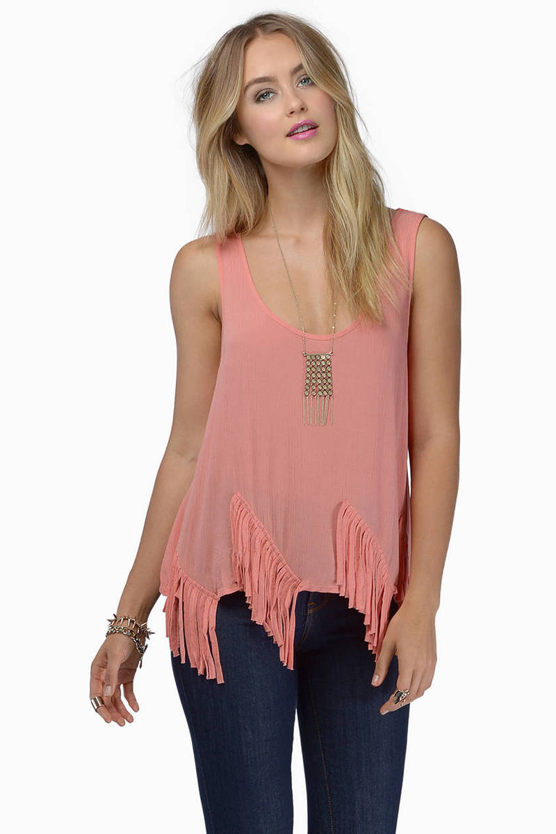 Angel Falls Coral Tank Top